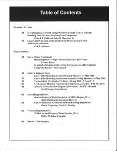 NABB Vol.40 No. 3 Table of Contents